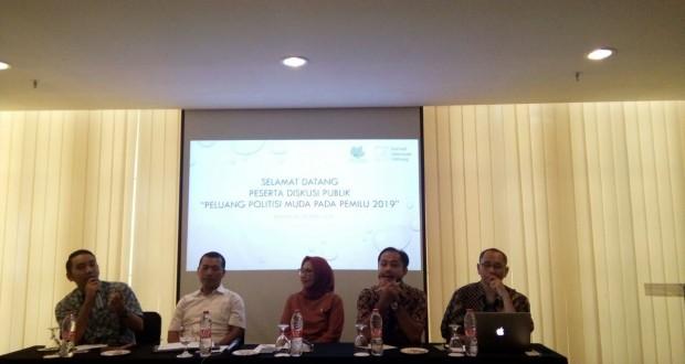 "Nampak para pemateri pada Diskusi Publik bertajuk ""Peluang Politisi Muda di Pemilu 2019""."