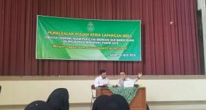 Pembekalan Kuliah Kerja Lapangan bagi mahasiswa jurusan Ekonomi Islam angkatan 2015, di audit 2 kampus 3, Senin, (30/4/2018).