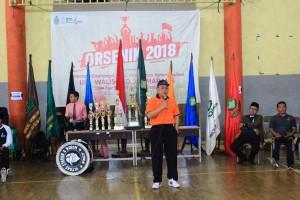 Rektor UIN Walisongo Semarang menyampaikan sambutan saat pembukaan Orsenik 2018, di Gedung Serba Guna Kampus 3. Jumat, (21/9/2018)