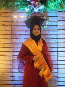 Nahla Nadira Rahma mahasiswa jurusan D3 Perbankan Syariah.