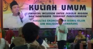 Nusron Wahid saat mengisi acara studium general FEBI di Audit 1 Kampus 1 UIN Walisongo Semarang. Jumat, (6/9/19)