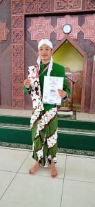 Aldi Hasani Harfi Fadhlani  dari Fakultas Dakwah dan Komunikasi, peraih gelar juara I cabang perlombaan khitobah. perlombaan berlangsung di masjid kampus II UIN Walisongo. Kamis, (19/9/2019)