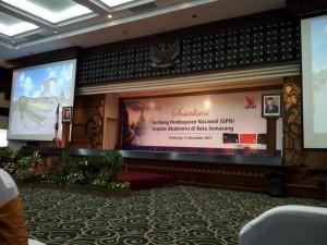 Sosialisai Gerbang Pembayaran Nasional (GPN) oleh Bank Indonesia usai dilaksanakan di Kantor Bank Indonesia cabang kota Semarang. Kamis (14/11/2019).