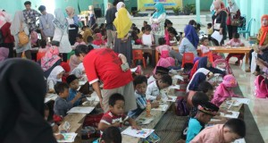 Suasana lomba Festival Anak Sholeh ( FAS) di Sraten Kecamatan Tuntang Kabupaten Semarang. Selasa, (19/11/2019)