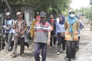 Tinjauan area untuk perancanga Museum Dampak Abrasi di Desa Bedono Dukuh Morosari RT 4 RW 5, Desa Bedono, Kecamatan Sayung, Kabupaten Demak.
