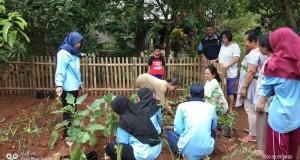 Tim KKN MIT Ke-IX posko 1 bersama warga dalam pembuatan Taman Toga didi Desa Bumirejo Ngasem RT 04/RW 06 Kelurahan Pudak Payung, Kecamatan Banyumanik, Kota Semarang.