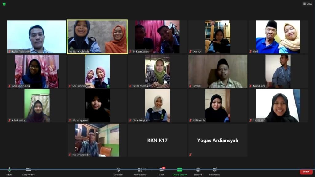Dolumentasi melalui Zoom Meeting bersama Dinas Kesehatan Kabupaten pati,Dr. Ling. Ahmad Qosim, Amd. KL. SKM.MT
